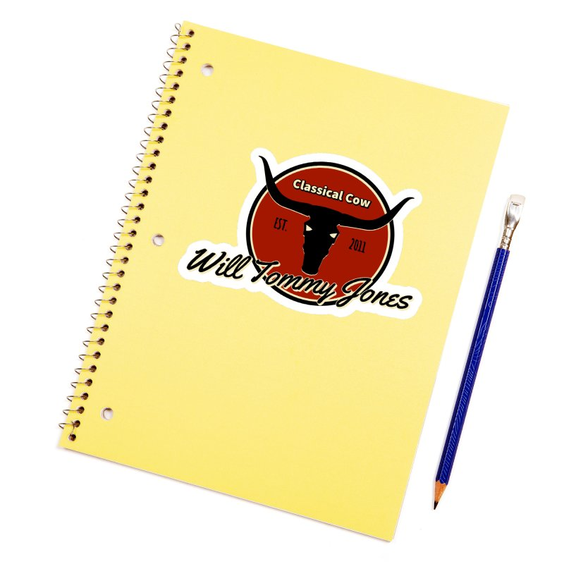 WTJ Cow Design II Accessories Sticker by Will's Buckin' Stuff