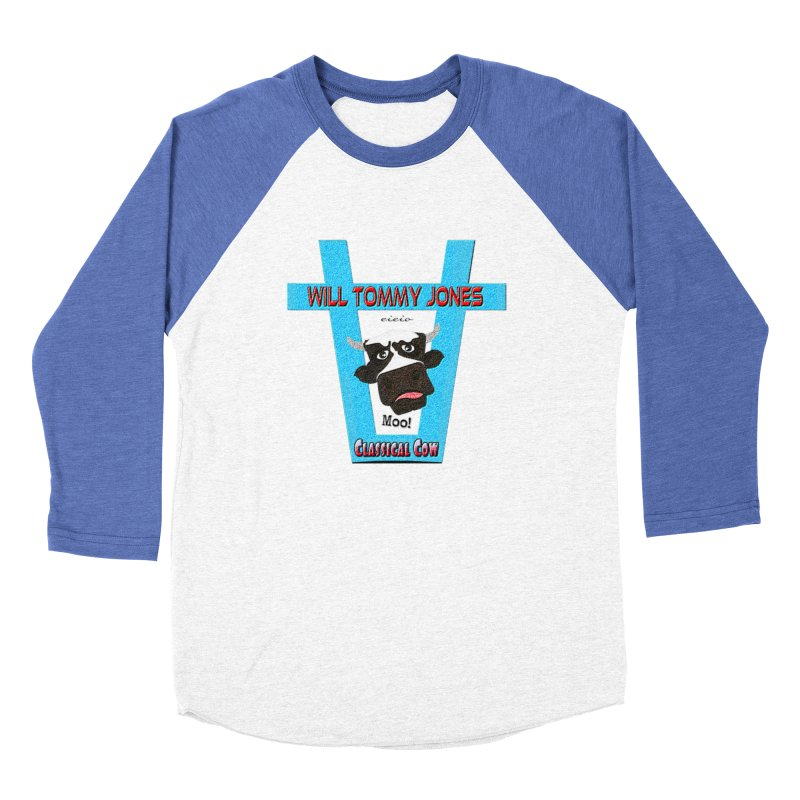 Will's Logo Merch Women's Baseball Triblend Longsleeve T-Shirt by Will's Buckin' Stuff