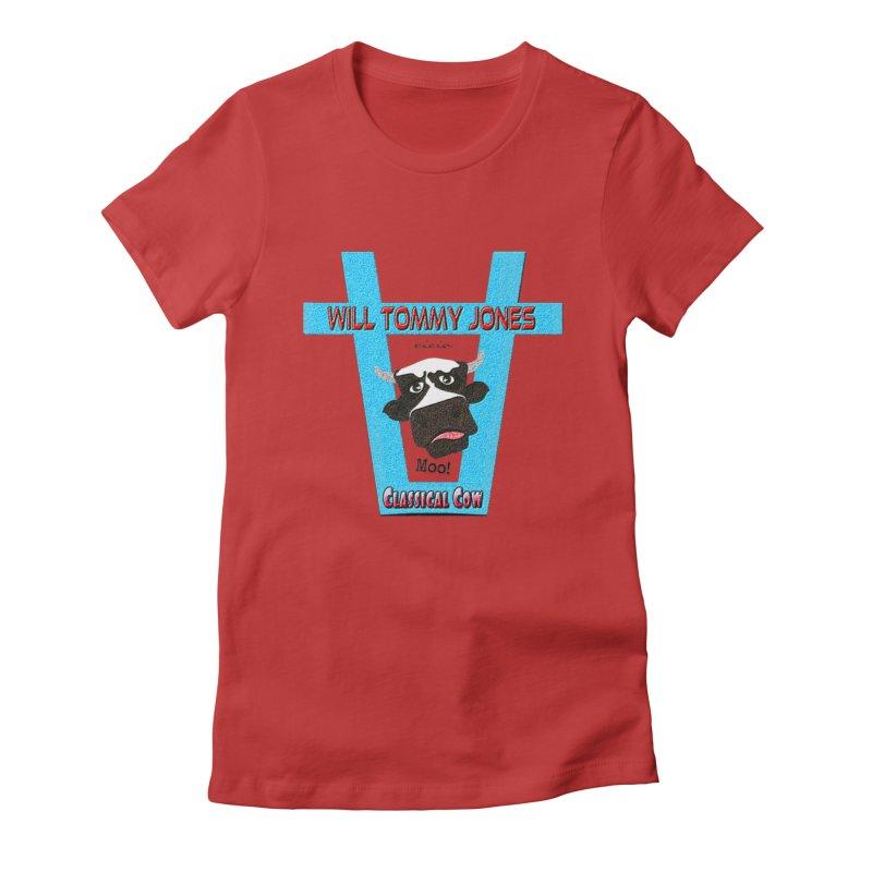 Will's Logo Merch Women's Fitted T-Shirt by Will's Buckin' Stuff