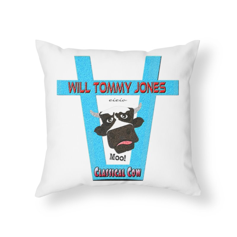 Will's Logo Merch Home Throw Pillow by Will's Buckin' Stuff