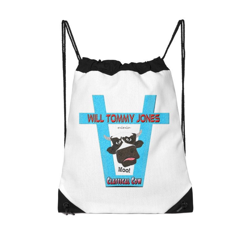 Will's Logo Merch Accessories Drawstring Bag Bag by Will's Buckin' Stuff