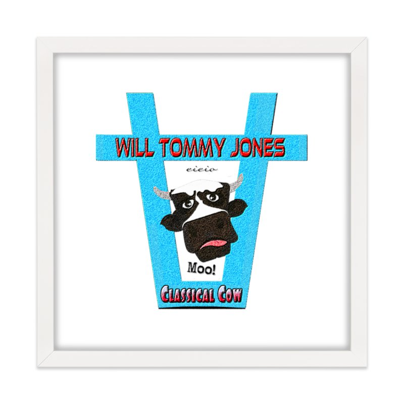 Will's Logo Merch Home Framed Fine Art Print by Will's Buckin' Stuff