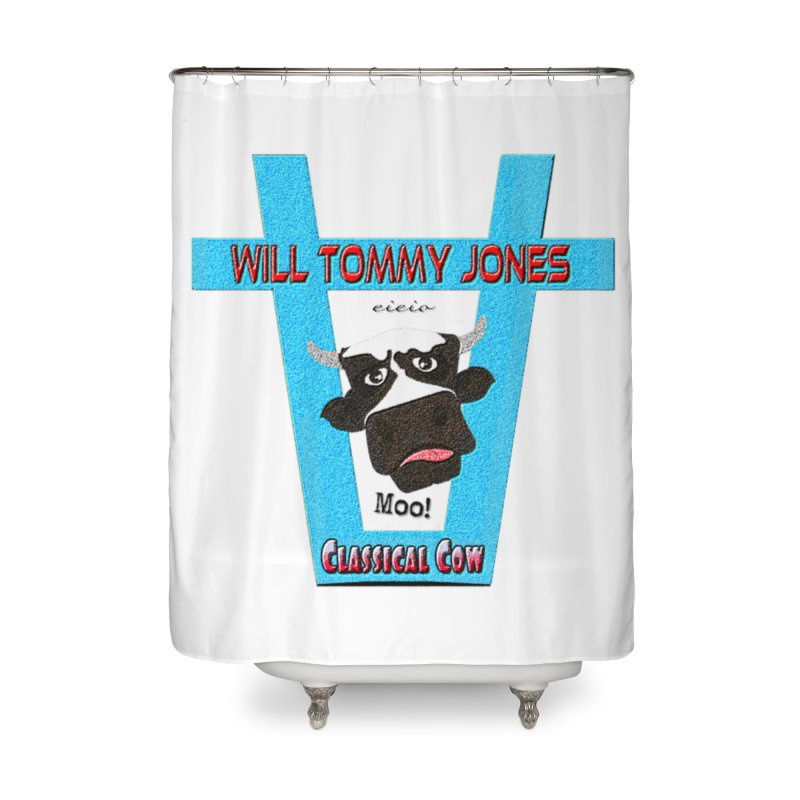 Will's Logo Merch Home Shower Curtain by Will's Buckin' Stuff