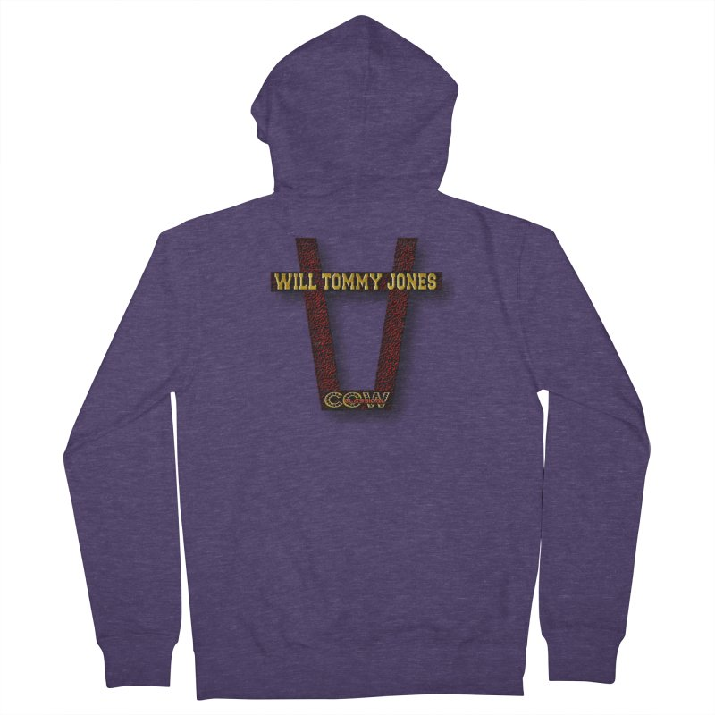 Will Logo 2 Men's French Terry Zip-Up Hoody by Will's Buckin' Stuff
