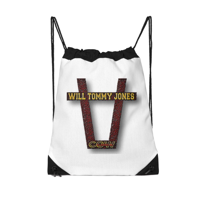 Will Logo 2 Accessories Drawstring Bag Bag by Will's Buckin' Stuff
