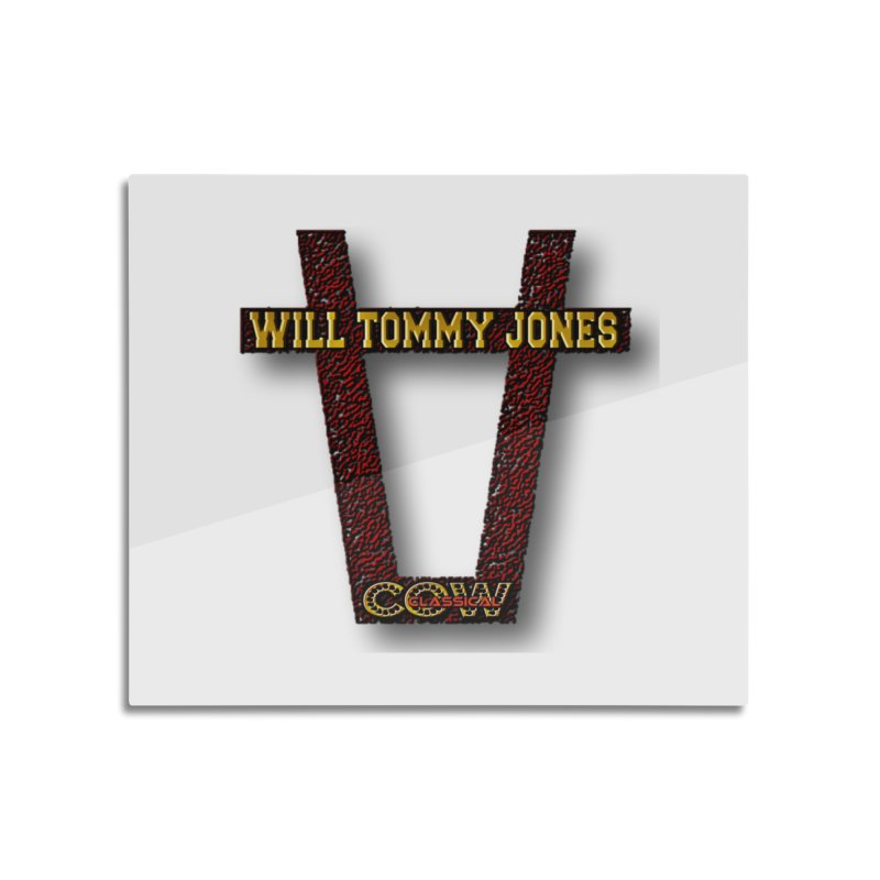 Will Logo 2 Home Mounted Aluminum Print by Will's Buckin' Stuff