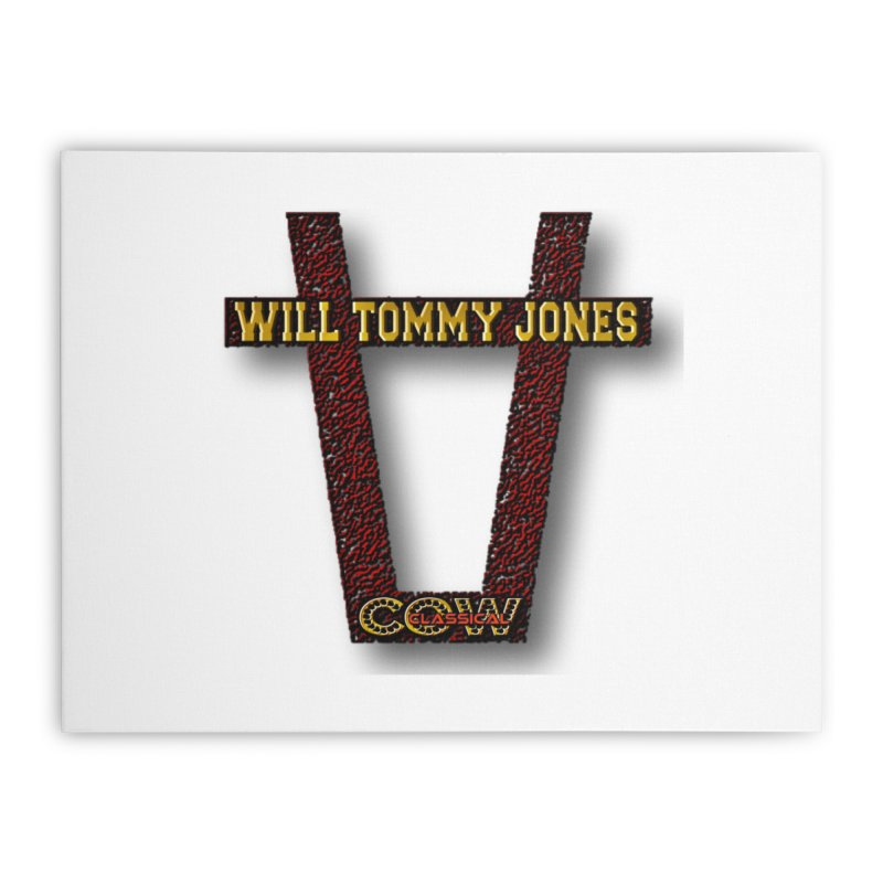 Will Logo 2 Home Stretched Canvas by Will's Buckin' Stuff