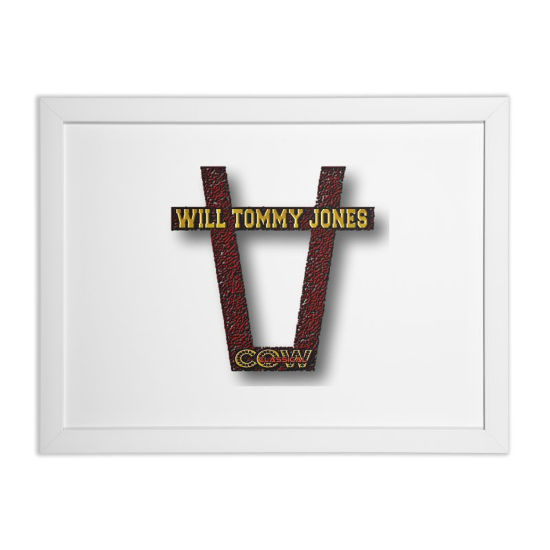 Will Logo 2 Home Framed Fine Art Print by Will's Buckin' Stuff