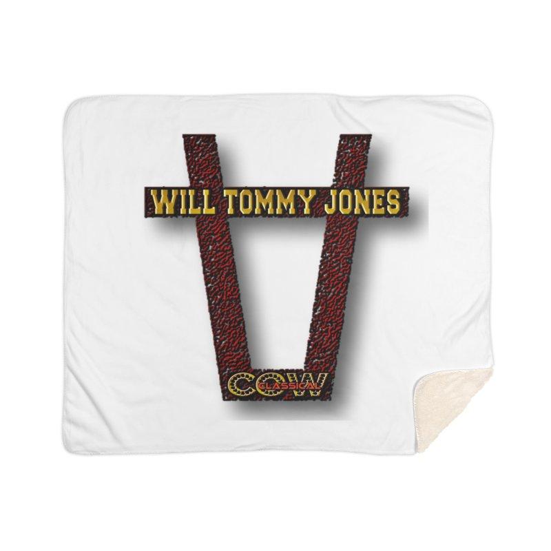 Will Logo 2 Home Sherpa Blanket Blanket by Will's Buckin' Stuff