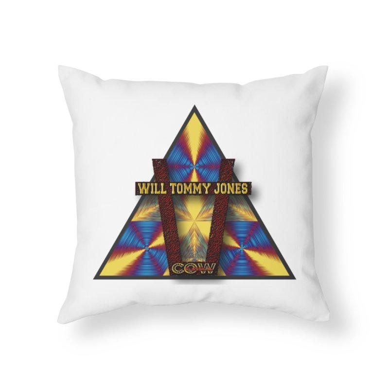 logo #3 Home Throw Pillow by Will's Buckin' Stuff