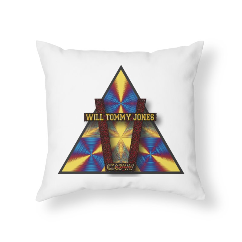 logo #3 Home Throw Pillow by Will's Buckin' Stuff