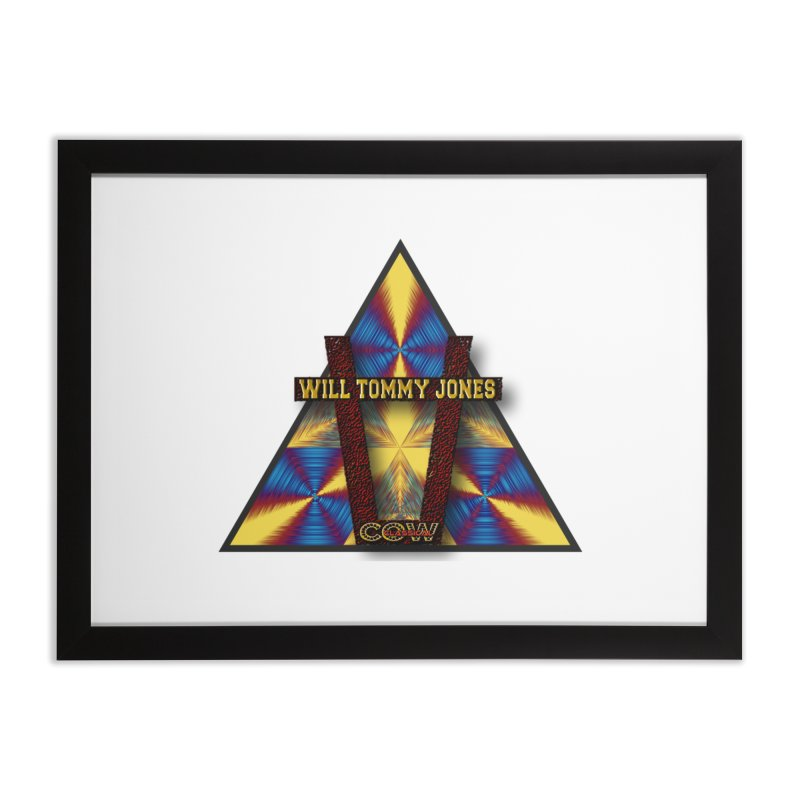 logo #3 Home Framed Fine Art Print by Will's Buckin' Stuff