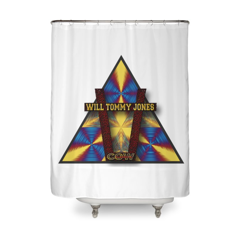 logo #3 Home Shower Curtain by Will's Buckin' Stuff