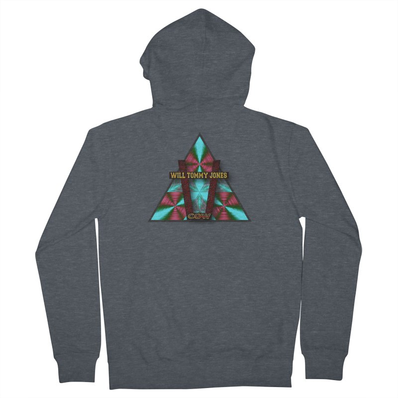 LOGO #4 Men's French Terry Zip-Up Hoody by Will's Buckin' Stuff