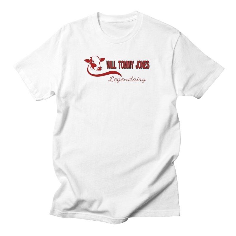 Will's White Tee Men's T-Shirt by Will's Buckin' Stuff