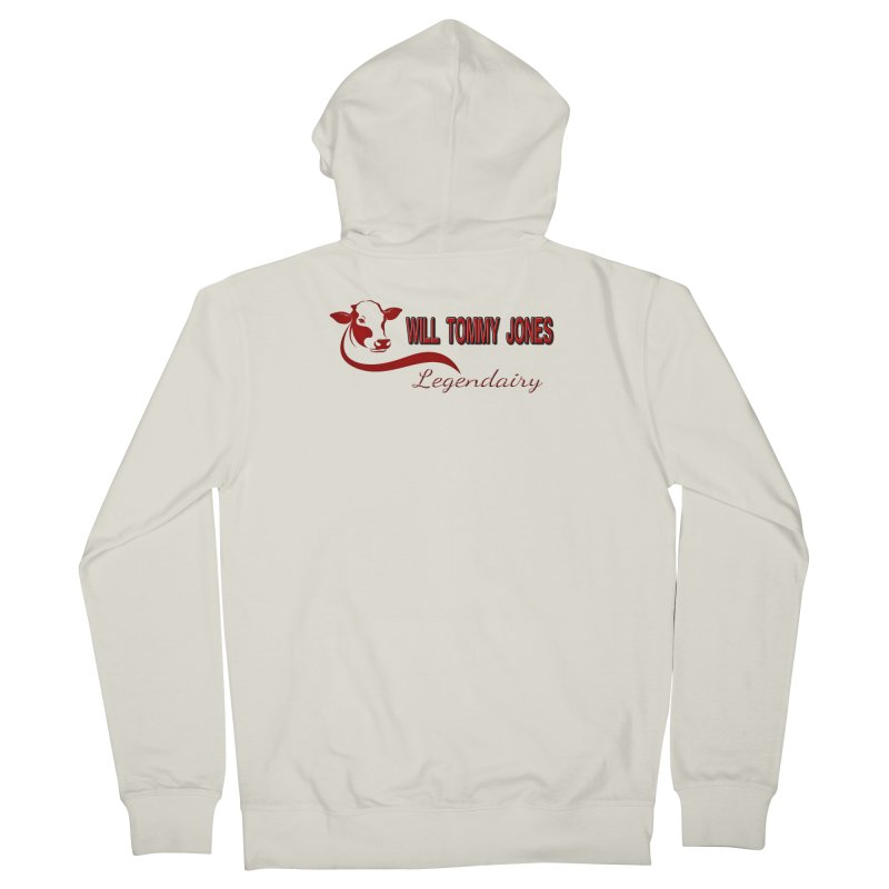 Will's White Tee Men's Zip-Up Hoody by Will's Buckin' Stuff