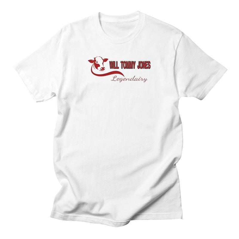 Will's White Tee Men's Regular T-Shirt by Will's Buckin' Stuff
