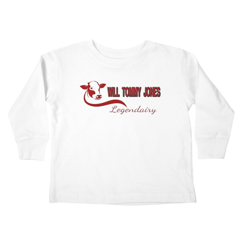 Will's White Tee Kids Toddler Longsleeve T-Shirt by Will's Buckin' Stuff