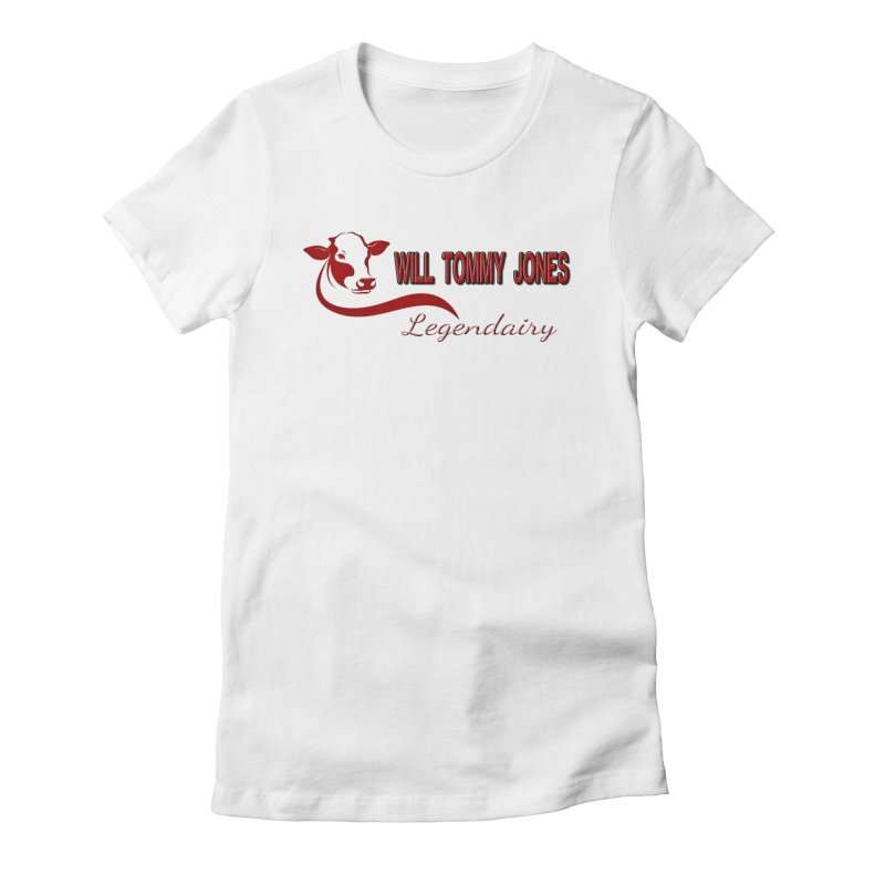 Will's White Tee Women's Fitted T-Shirt by Will's Buckin' Stuff