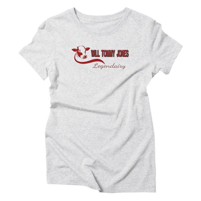 Will's White Tee Women's Triblend T-Shirt by Will's Buckin' Stuff