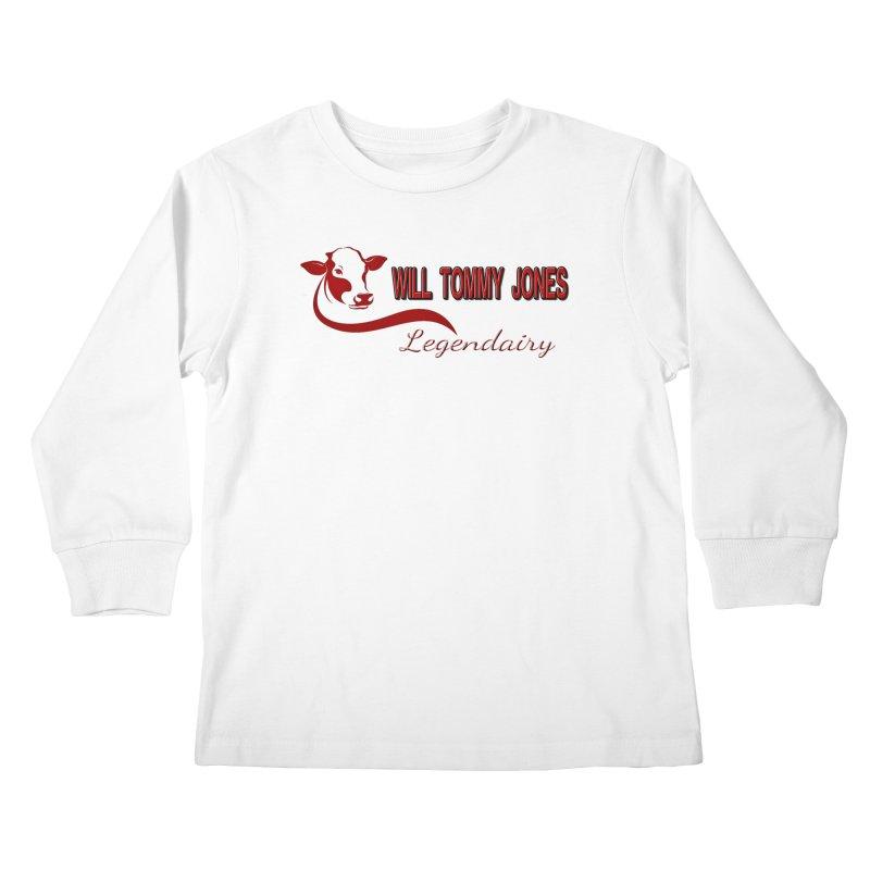 Will's White Tee Kids Longsleeve T-Shirt by Will's Buckin' Stuff