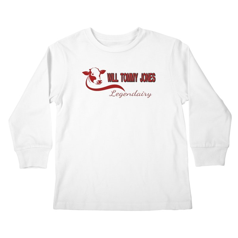 Will's White Tee Kids Longsleeve T-Shirt by Will's Buckin' Stuff