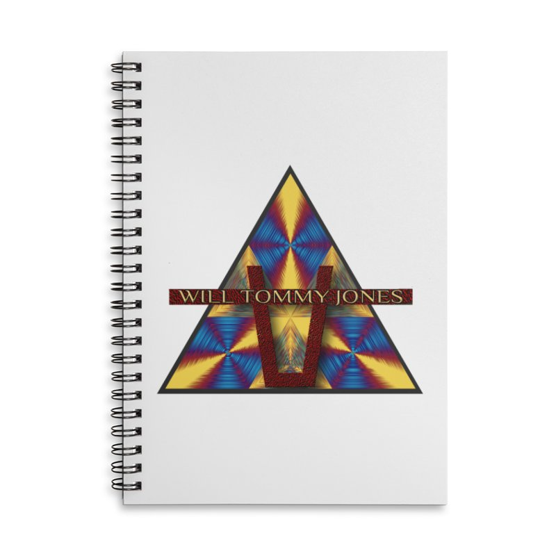 Logo Tee Accessories Lined Spiral Notebook by Will's Buckin' Stuff