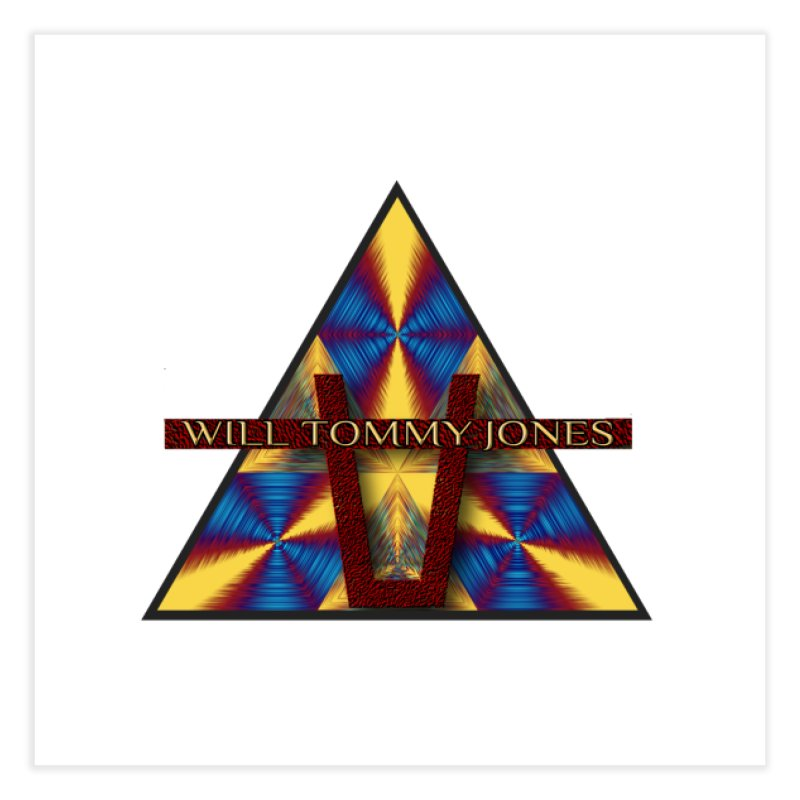 Logo Tee Home Fine Art Print by Will's Buckin' Stuff