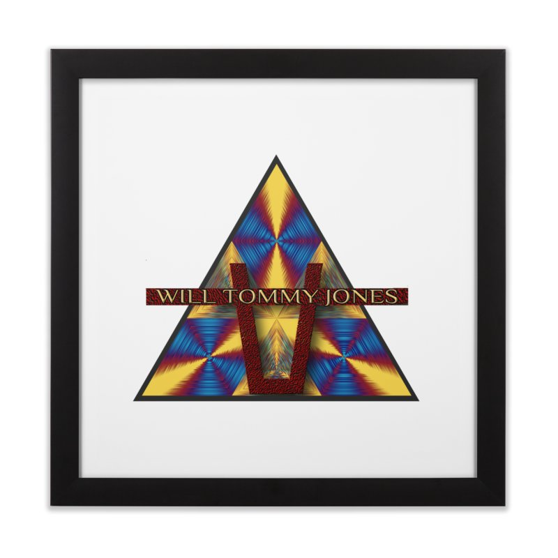 Logo Tee Home Framed Fine Art Print by Will's Buckin' Stuff