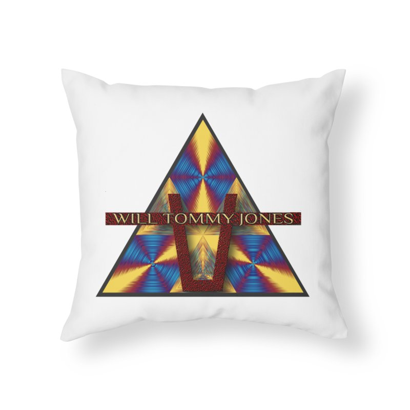 Logo Tee Home Throw Pillow by Will's Buckin' Stuff