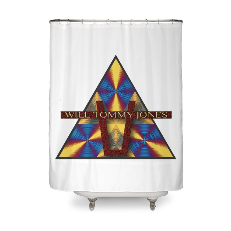 Logo Tee Home Shower Curtain by Will's Buckin' Stuff