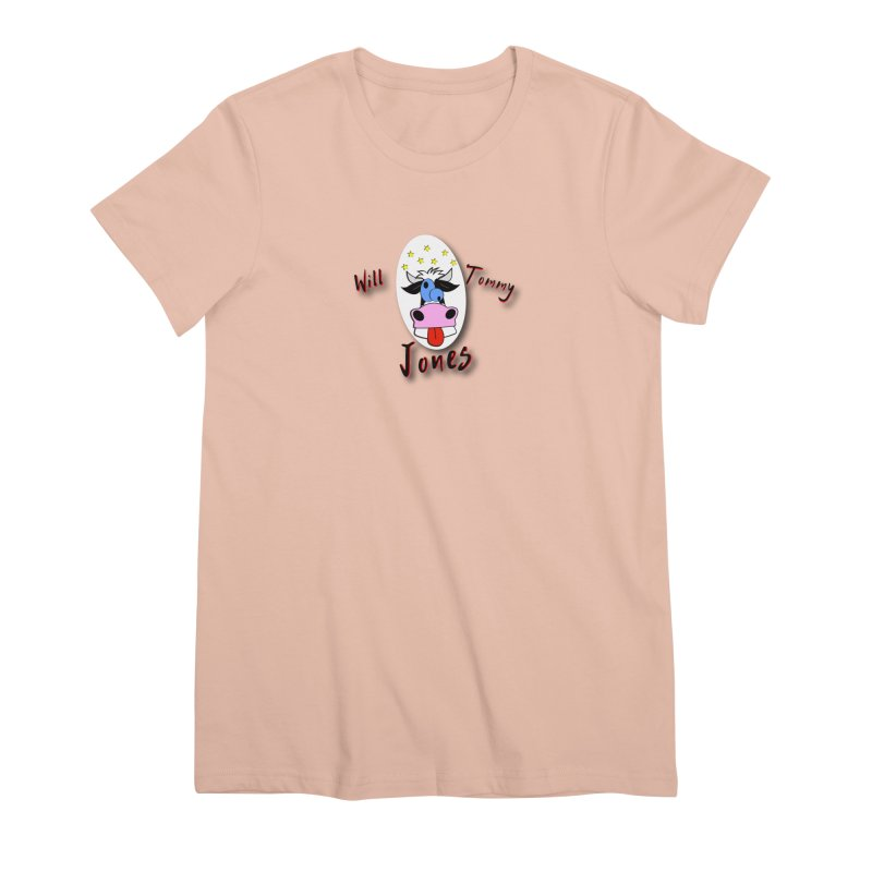 Nutty Cow Tee Women's Premium T-Shirt by Will's Buckin' Stuff