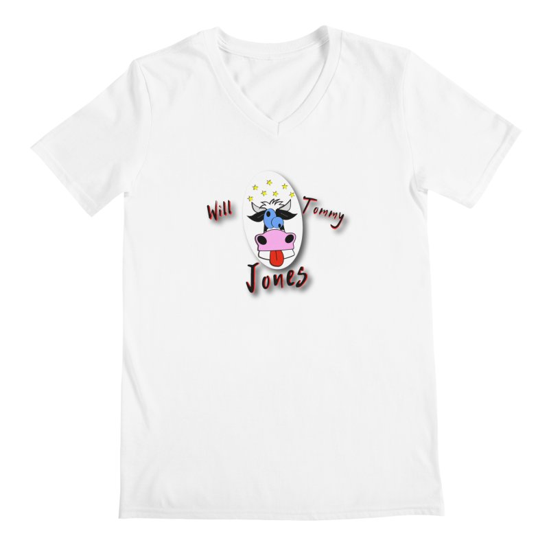 Nutty Cow Tee Men's Regular V-Neck by Will's Buckin' Stuff