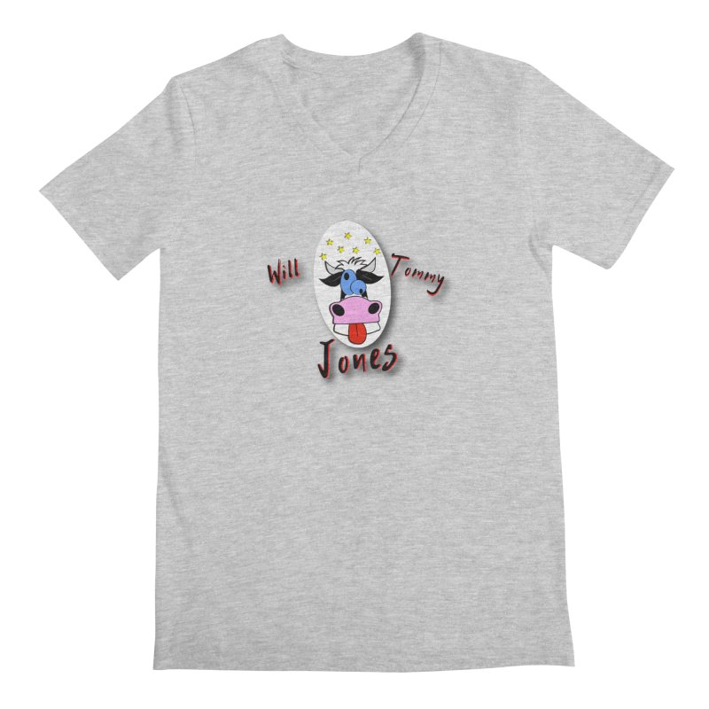 Nutty Cow Tee Men's V-Neck by Will's Buckin' Stuff