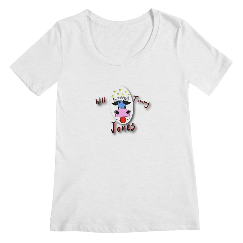 Nutty Cow Tee Women's Scoop Neck by Will's Buckin' Stuff