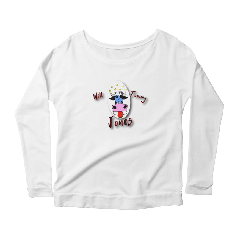 Nutty Cow Tee Women's Scoop Neck Longsleeve T-Shirt by Will's Buckin' Stuff