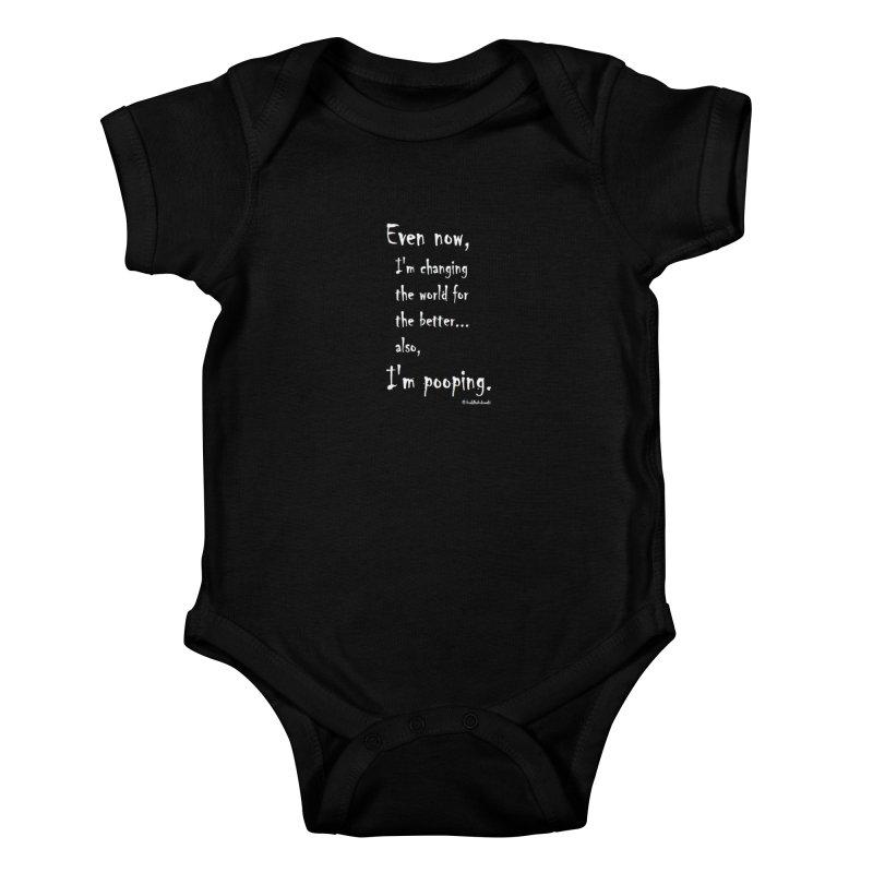 #buddhabukowski POOPING Kids Baby Bodysuit by buddhabukowski's shop