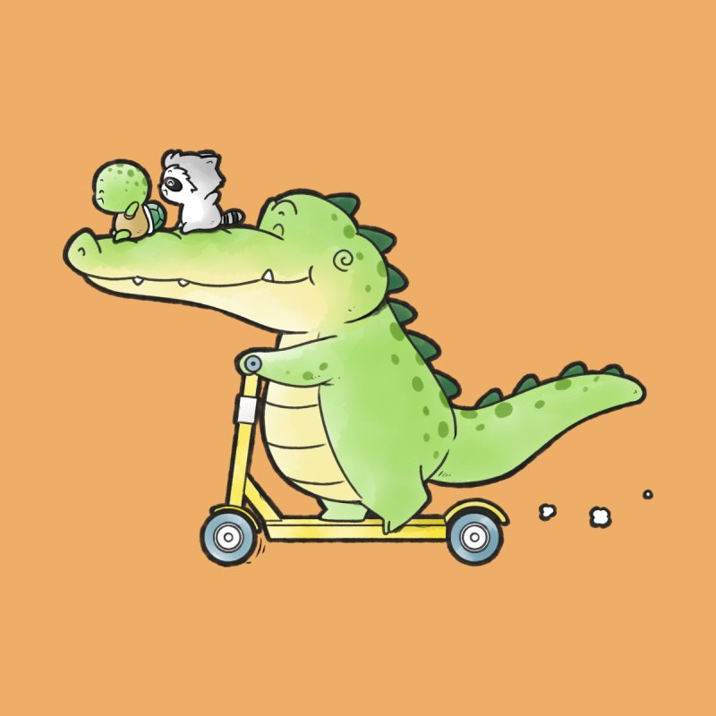 Buddy Gator - Have A Lift,Turtle and Raccoon Kids T-Shirt by Buddy Gator's Artist Shop