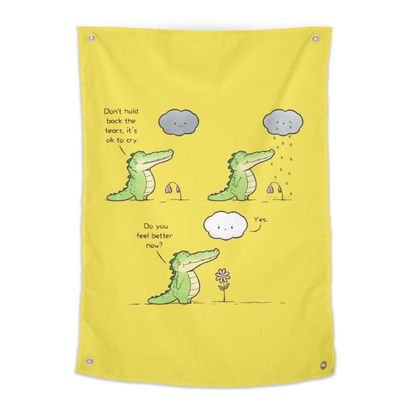 Buddy Gator - It's Ok To Cry Home Tapestry by Buddy Gator's Artist Shop