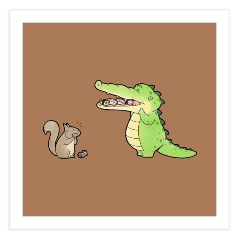 Buddy Gator - Storing Food, Squirrel Home Fine Art Print by Buddy Gator's Artist Shop