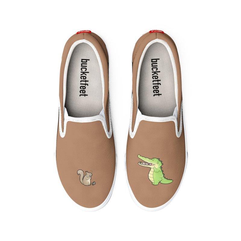 Buddy Gator - Storing Food, Squirrel Women's Shoes by Buddy Gator's Artist Shop