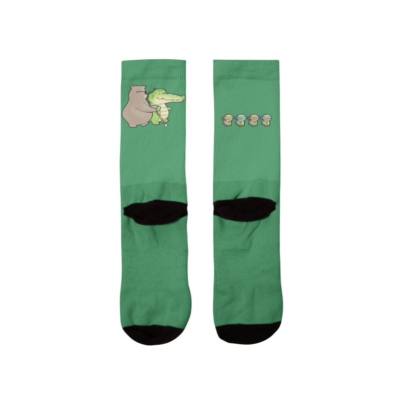 Buddy Gator - Crossing The Road, Bear Women's Socks by Buddy Gator's Artist Shop