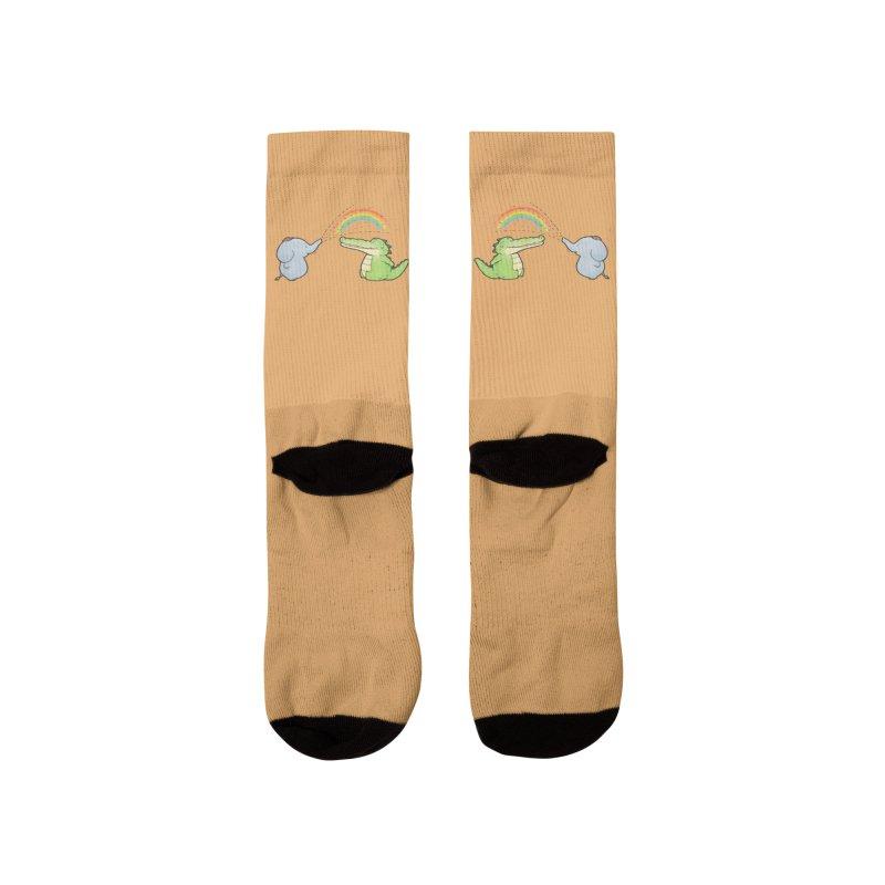 Buddy Gator - Have A Nice Day, Elephant Women's Socks by Buddy Gator's Artist Shop
