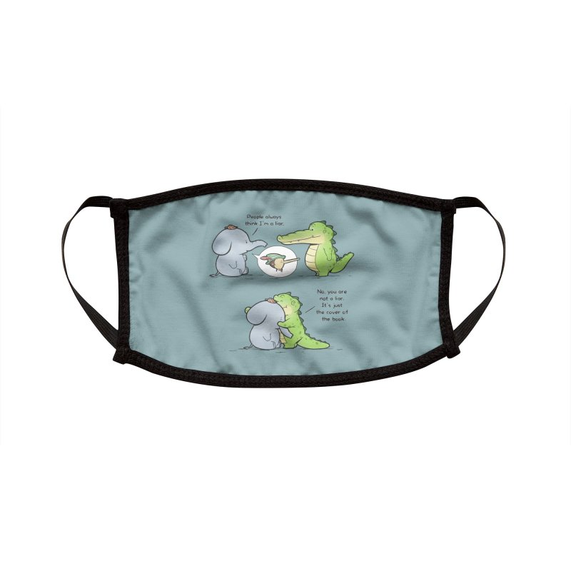 Buddy Gator - Don't Judge A Book By Its Cover Accessories Face Mask by Buddy Gator's Artist Shop