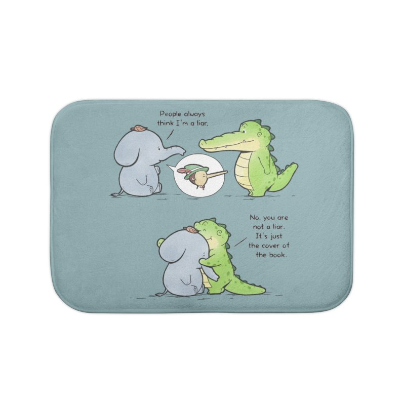 Buddy Gator - Don't Judge A Book By Its Cover Home Bath Mat by Buddy Gator's Artist Shop