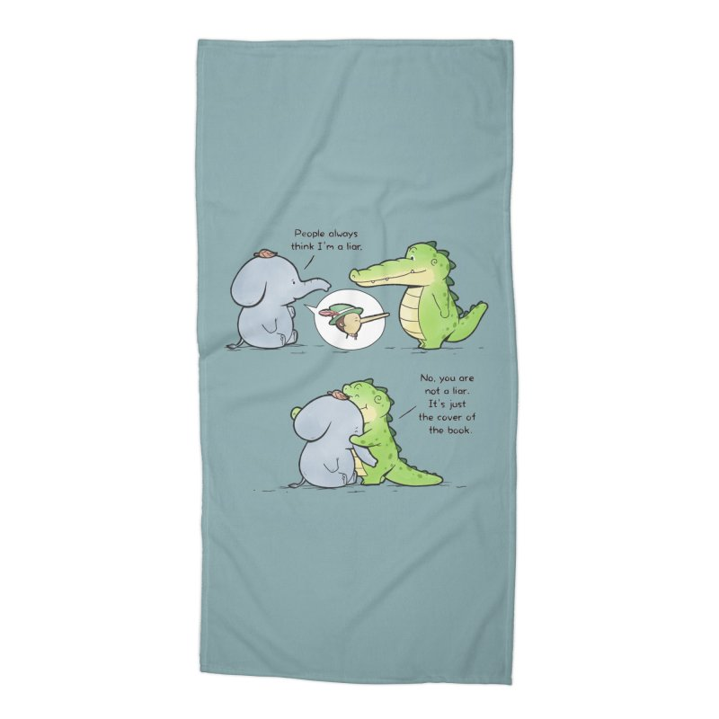 Buddy Gator - Don't Judge A Book By Its Cover Accessories Beach Towel by Buddy Gator's Artist Shop