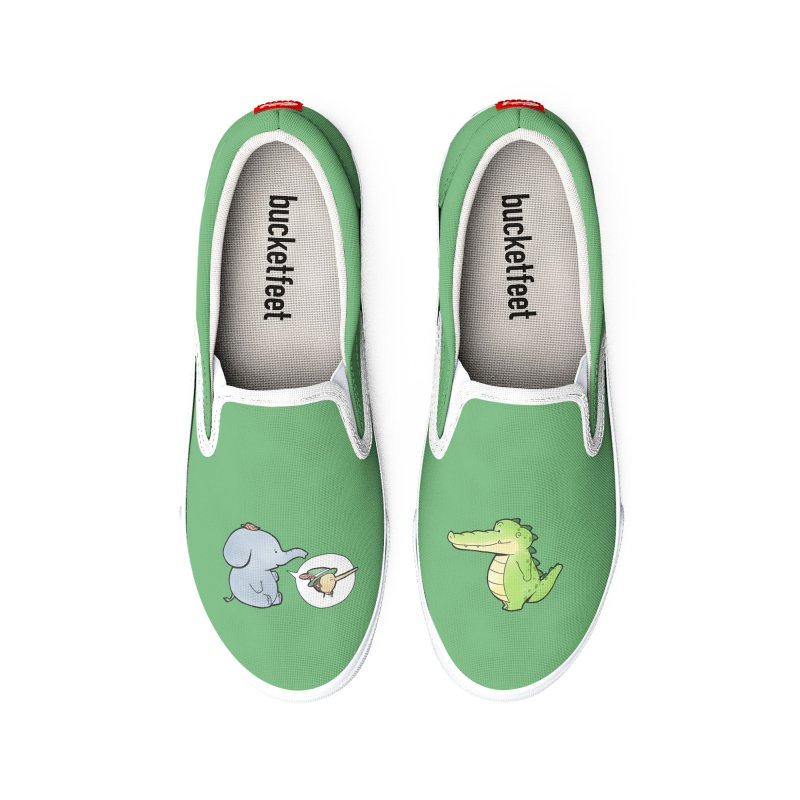 Buddy Gator - Don't Judge A Book By Its Cover, Elephant Women's Shoes by Buddy Gator's Artist Shop