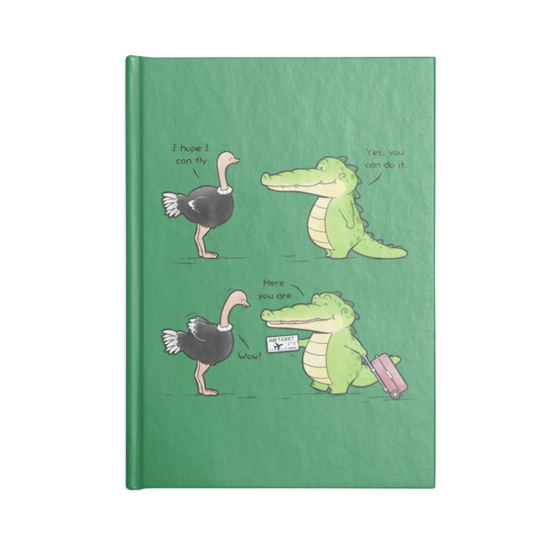 Buddy Gator - You Can Do It Accessories Notebook by Buddy Gator's Artist Shop