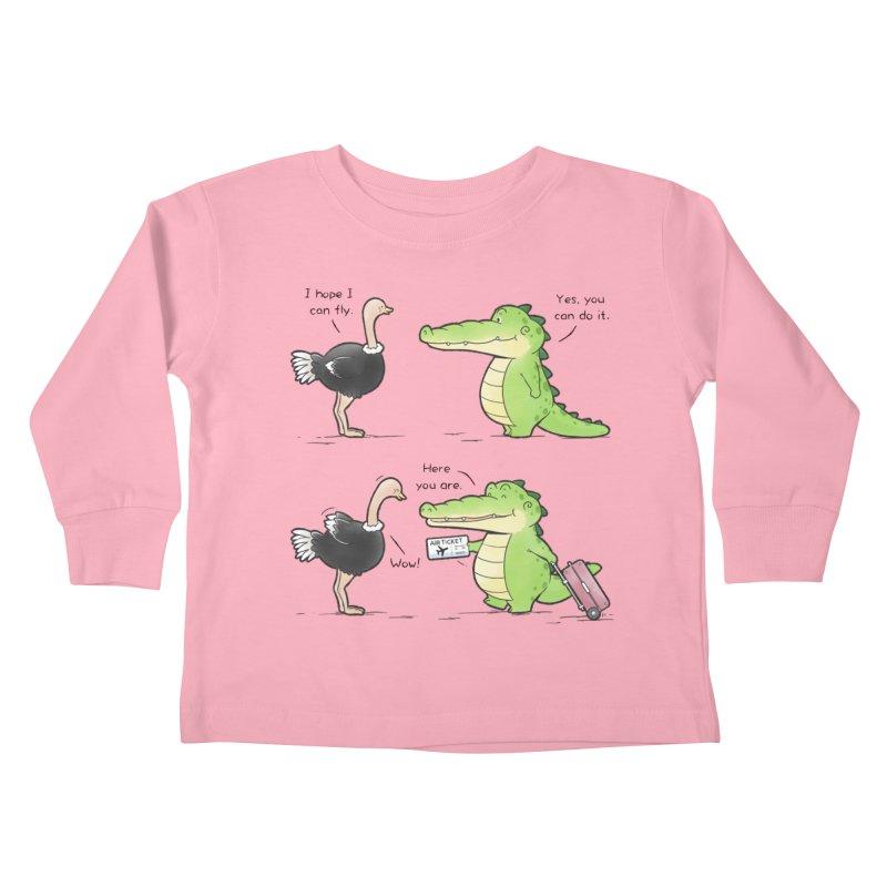 Buddy Gator - You Can Do It Kids Toddler Longsleeve T-Shirt by Buddy Gator's Artist Shop