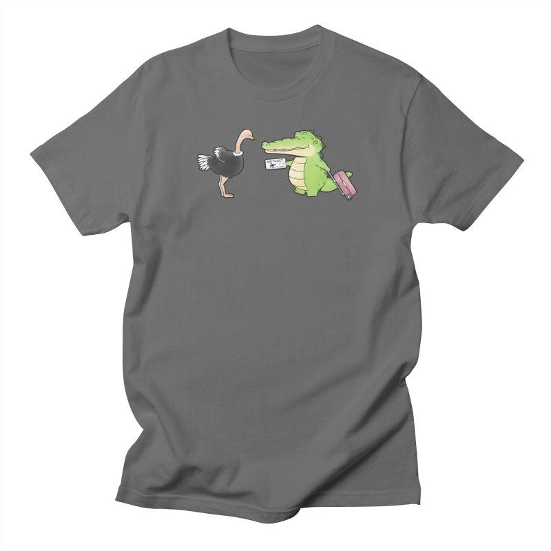 Buddy Gator - You Can Do It, Ostrich Men's T-Shirt by Buddy Gator's Artist Shop